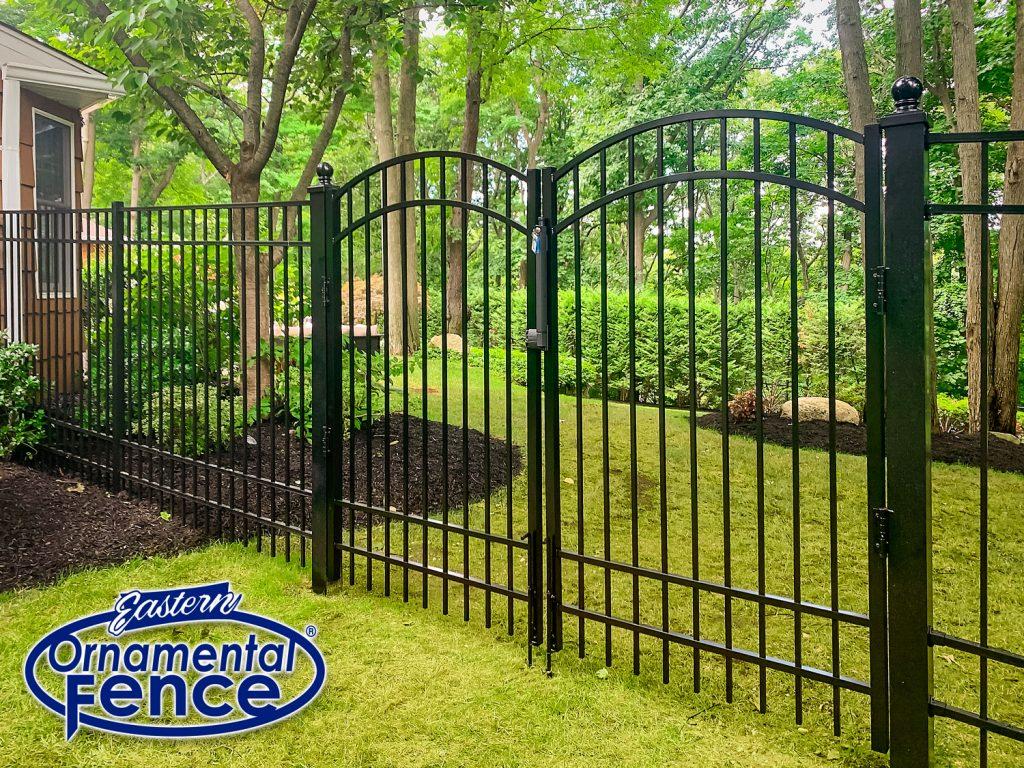 Eastern Ornamental Aluminum 6' High 4-Rail Picket Fence with Matching Accent Gates and 4-inch posts with Ball Caps #ornamentalfence #aluminumfence #poolfence #aluminumrailing #railing #fencesupplies #railingsupplies #fence #fences #vinylfence #pvcfence #vinylfences #pvcfences #picketfence #fencecompany #fencecontractor #fenceinstaller #fencesupplies #longisland #longislandny #connecticut #rhodeisland #massachusetts #newjersey #pennsylvania #thenortheast #tristatearea