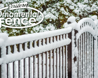 EO54202-BK Eastern-Ornamental-Fence-in-the-Snow #ornamentalfence #aluminumfence #poolfence #aluminumrailing #railing #fencesupplies #railingsupplies #fence #fences #vinylfence #pvcfence #vinylfences #pvcfences #picketfence #fencecompany #fencecontractor #fenceinstaller #fencesupplies #longisland #longislandny #connecticut #rhodeisland #massachusetts #newjersey #pennsylvania #thenortheast #tristatearea