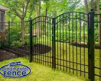 Eastern Ornamental Aluminum 6' High 4-Rail Picket Fence with Matching Accent Gates and 4-inch posts with Ball Caps #ornamentalfence #aluminumfence #poolfence #aluminumrailing #railing #fencesupplies #railingsupplies #fence #fences #vinylfence #pvcfence #vinylfences #pvcfences #picketfence #fencecompany #fencecontractor #fenceinstaller #fencesupplies #longisland #longislandny #connecticut #rhodeisland #massachusetts #newjersey #pennsylvania #thenortheast #tristatearea